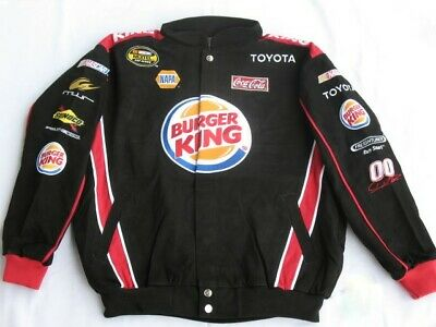 David Reutimann Burger King Cotton Twill NASCAR Jacket by Chase Authentics Large