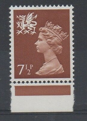 Wales. W24ey. 7 1/2p Chestnut. Phospher omitted variety. Superb MNH.