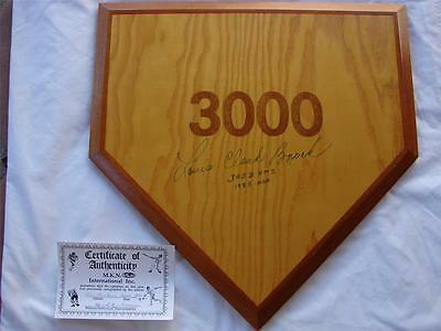 One - Of - A - Kind Lou Louis Brock Autographed And Authenticated Home Plate