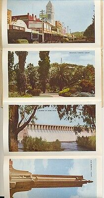 Postcard Albury NSW 12 view fold out type with 3d green QE2 stamp sent Victoria