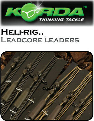 NEW Korda Ready-Tied HELICOPTOR LEADCORE LEADERS for Carp & Coarse Fishing