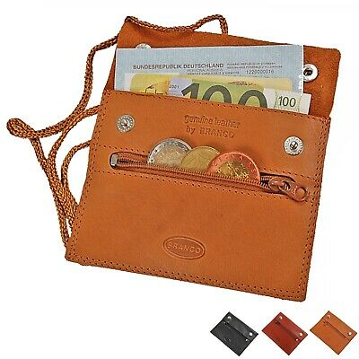 Branco kleiner flacher Brustbeutel Leder Brusttasche Security Wallet GoBago 420