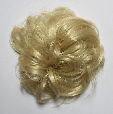 HAARGUMMI HAARTEIL IN HELL BLOND Zopfgummi Scrunchie S01 Hair Piece blonde wig