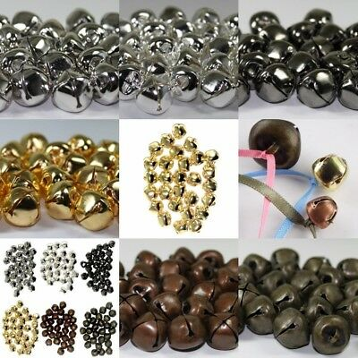 10 Jingle Bells Small to Large 6,10,13,20 & 25mm 6 Metallic Finishes.Craft Hobby