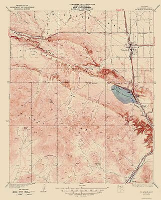 Topographical Map Print - Palmdale California Quad - USGS 1937 - 23 x 28.59