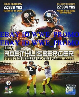 BEN ROETHLISBERGER PITTSBURGH STEELERS NFL LICENSED Picture 8X10 Football PHOTO