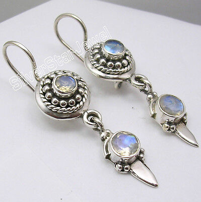 925 Sterling Silver ART Earrings ! Vintage Style Handwork Jewelry for Her NEW