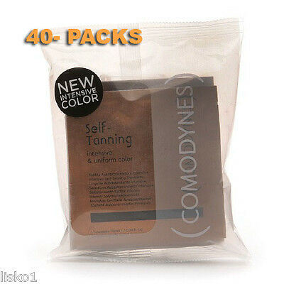 Comodynes Self Tanning Towlettes NEW INTENSE COLOR  40 PK