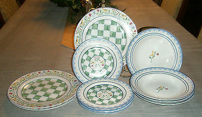11pcs Coventry FOLKLORE Dinnerware Plates & Bowls
