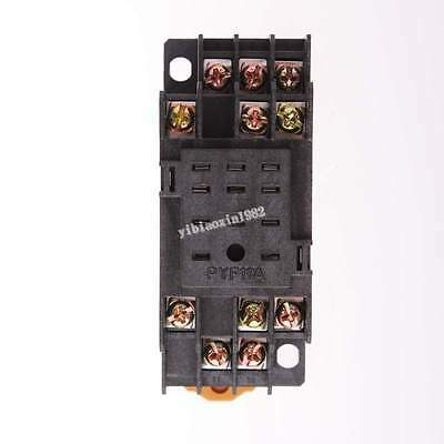 10pcs  PYF11A Relay Socket Base DIN Track 11 Blade 11Pin for MY3NJ HH53P Relay