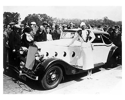 1935 Delage Automobile Photo Poster Singer & Actress Josephine Baker zub2671-ZRN