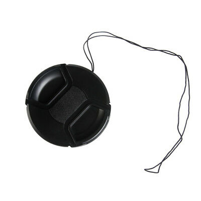 62mm Center Pinch Snap On Front Lens Cap Cover For Canon Nikon Sony with string