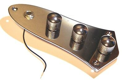 Electric  bass Jazz guitar control plate assembly fully loaded in chrome