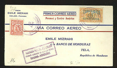 First flight Panama - Honduras (PAA, 1929, only 82 pieces of mail carried!