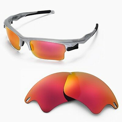dbdc42799f770 WL Polarized Fire Red Replacement Lenses For Oakley Fast Jacket XL  Sunglasses