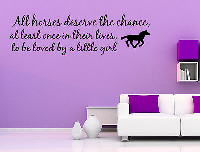 Love Horse Girls Western Vinyl Wall quote Decal home Decor Wall Sticker