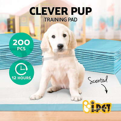 iPET Puppy Pet Dog Home Indoor Cat Toilet Training Pads Absorbent 200pcs