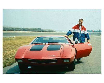 1970 AMC AMX3 Factory Photo Driver Mark Donohue ub4483-DG2DR6
