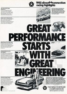 1982 Dodge Carroll Shelby Charger - Classic Vintage Advertisement Ad M3113-A89-B