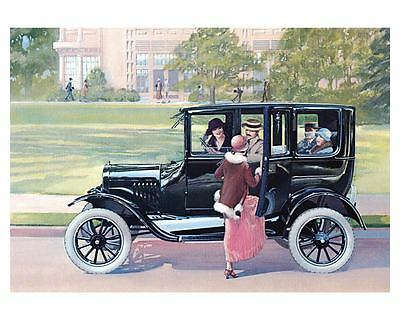 1923 Ford Model T Fordor Sedan Factory Photo ub4757-KKL6MF