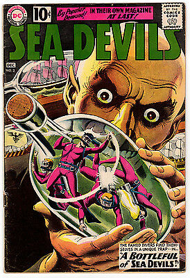 Sea Devils #2 3.0 Off-White To White Pages Silver Age