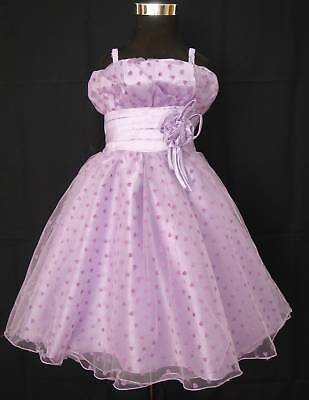New Lilac Pageant Party Flower Girl Dress 2-3 Years