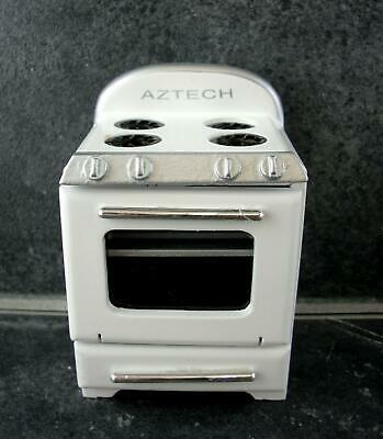 Dolls House Miniature Kitchen Furniture 1950's Cooker Stove in White