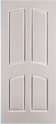 Custom Carved 4 Panel Double Arch Raised Panels Primed Solid Core Interior Doors