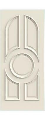 Custom Carved 5 Panel Arch Oval Primed Solid Core Doors W/ Raised Moulding R5110