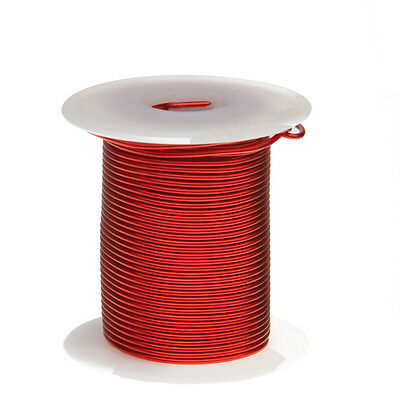 "16 AWG Gauge Enameled Copper Magnet Wire 8oz 63' Length 0.0520"" 155C Red"