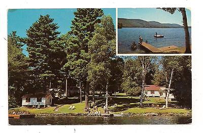 Briar Dell Lake Shore Cabins Rt. 9N Lake George NY Warren County Postcard 060313