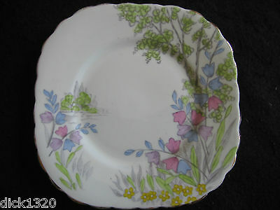 """DECO J.H.COPE HANDPAINTED CHINA #7990-1  6"""" TEAPLATE 1930's"""