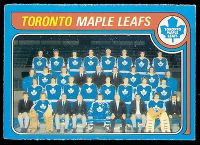 1979 80 Opc  O Pee Chee 258 Toronto Maple Leafs Team Unmarked Ex-Nm Hockey Card