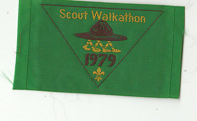 Scouts Australia 1979 Walkathon showing hat and ropes sleeve patch, popular