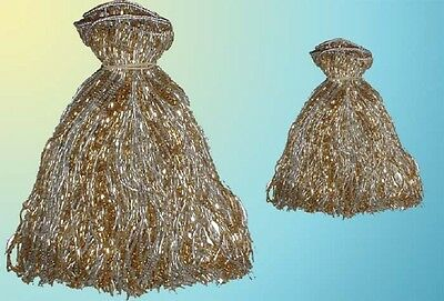 """SILVER & GOLD BEADED BELLY  DANCE  FRINGE 40"""" x 8"""" & 40"""" x 4"""""""