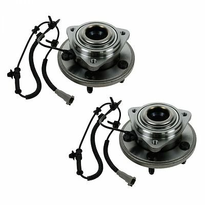Front Wheel Hubs & Bearings Pair Set of 2 NEW for Jeep Grand Cherokee Commander