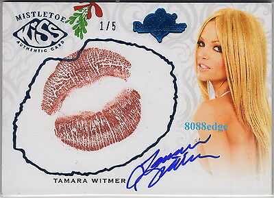 2012 Benchwarmer Holiday Kiss Auto:tamara Witmer #1/5 Autograph Playboy Playmate