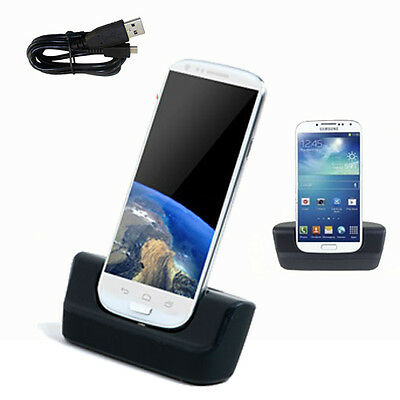 USB Data Transfer & Battery Charging Dock Stand for Samsung Galaxy S4 i9505
