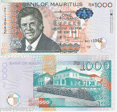 MAURITIUS 1000 Rupees Banknote World UNC Currency Money BILL Africa 2010 Note
