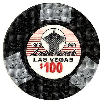 Landmark Hotel and Casino $100 Bill Borland Commemorative Chips Las Vegas NV *