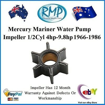A New Mercury Mariner Water Pump Impeller 1/2Cyl 4hp-9.8hp 1966-1986 # R47-89981
