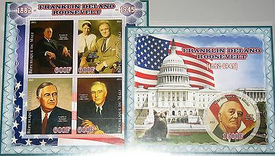 MALI 2013 US President Franklin Roosevelt Statesman Wife Dog White House MNH