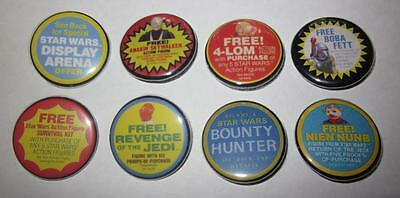 """Star Wars Set 8 Custom 1 1/4"""" Kenner Special Offer Vintage Theme Buttons Pins"""
