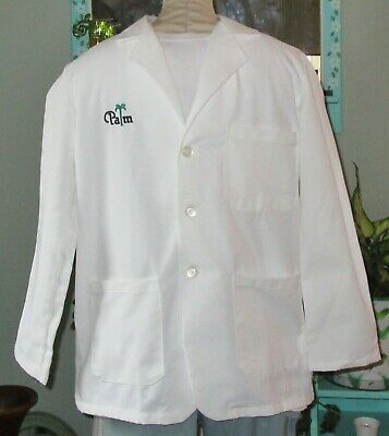 """Best Medical L/S Consultant Lab Coat 3 Pockets 29"""" Length EMB Palm Sz S To 6X"""