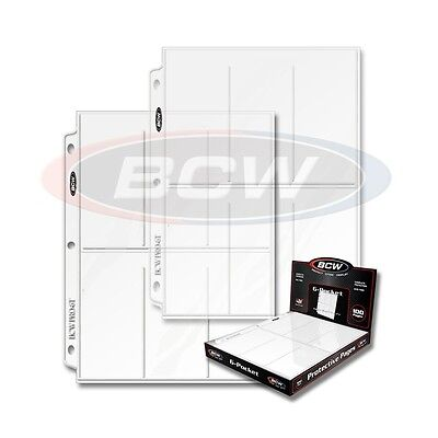 50 - 6 Pocket 2 1/2 x 5 1/2 Photo Page Sheet Protector BCW Pro6T - 3 ring binder