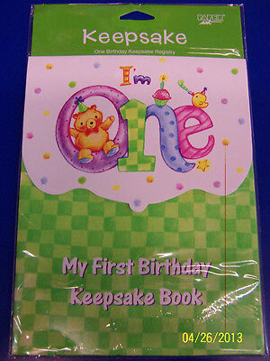 My 1st Birthday Kids I'm One First Party Favor Gift Guest Memory Keepsake Book