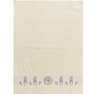 PETER RABBIT TERRY TOWEL / New Home Bathroom Kitchen Cotton Textiles Easter Gift