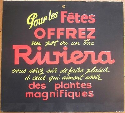 1950s French Agricultural/Gardening Plant Advertising Sign: Riumera