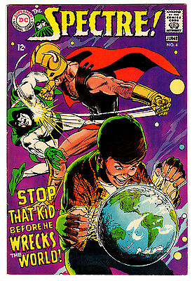 Spectre #4 6.75 Off-White Pages Silver Age Neal Adams