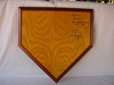 One Of A Kind Al Kaline & Lou Brock Autographed And Authenticated Home Plate